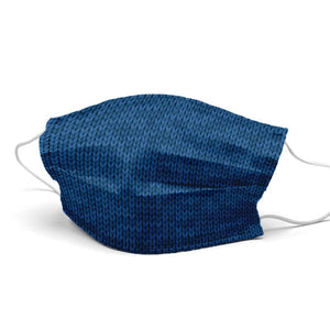 Dark Blue Wool Style, Washable and Reusable Microflament Cloth Face
