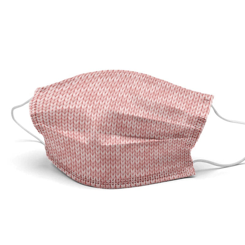 Pink Wool Style, Washable and Reusable Microflament Cloth Face