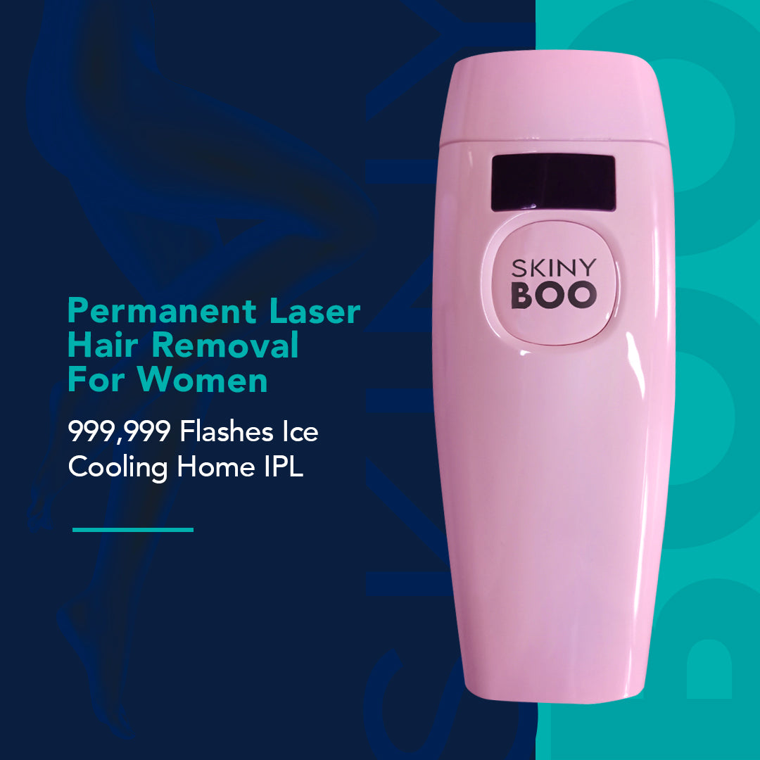 Skiny Boo® Permanent Laser Hair Removal For Women 999,999 Flashes Ice Cooling Home IPL