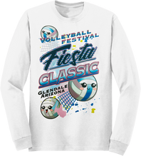 Load image into Gallery viewer, Custom Performance T-Shirt Festival Fiesta Classic VBalls in White