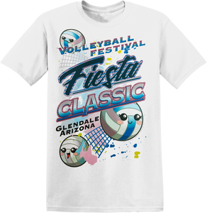 Custom Performance T-Shirt Festival Fiesta Classic VBalls in White