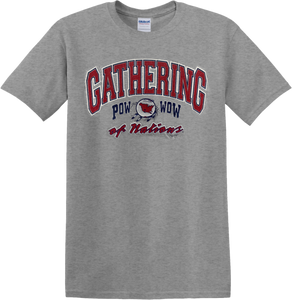 Gathering of Nations Pow Wow Gray T-Shirt