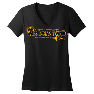 Miss Indian World V-neck tee