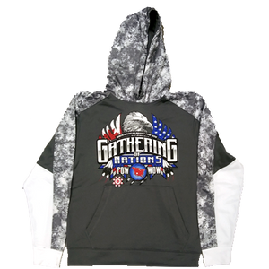 Gathering Colorblock Fleece Pullover