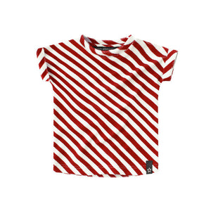Your Wishes - Red Stripes Boxy Tee