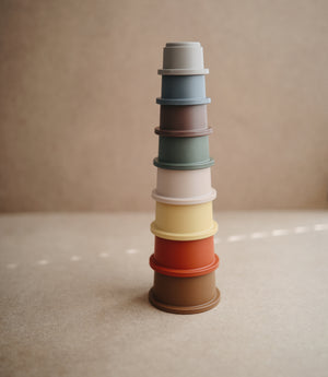 Mushie - Stapeltoren Stacking Cups Retro