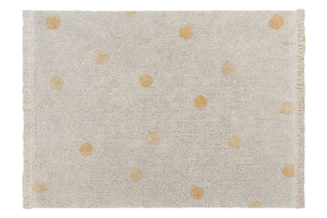 Lorena Canals - Vloerkleed Hippy Dots  Natural/ Honey (120x160cm)