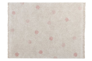 Lorena Canals - Vloerkleed Hippy Dots  Natural/Vintage Nude (120x160cm)