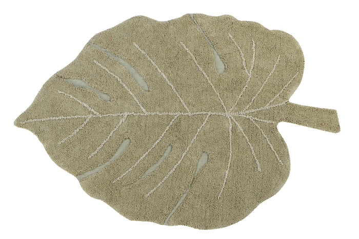 Lorena Canals - Vloerkleed Monstera Leaf Olive (120x180cm)