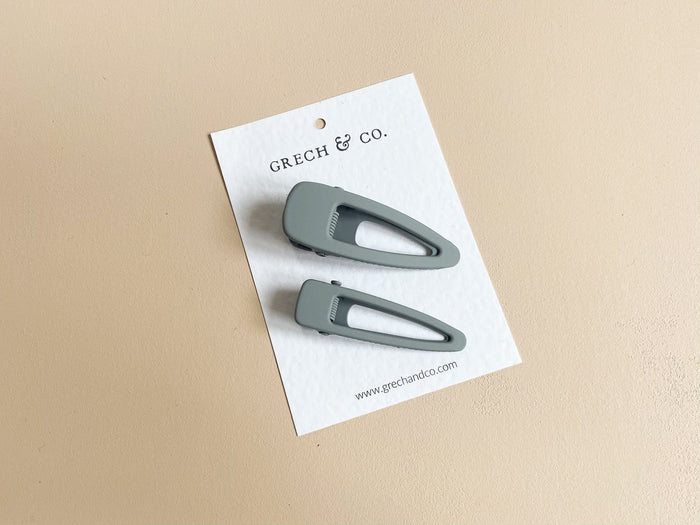 Grech & Co. - Haarspeldjes set Charcoal