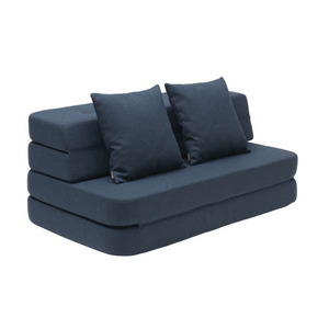 By KlipKlap - KK 3 Fold Sofa Dark Blue (120cm)