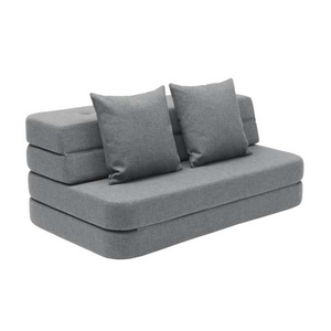 By KlipKlap - KK 3 Fold Sofa Blue Grey(140cm)