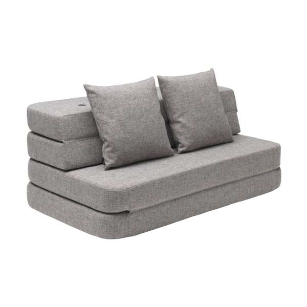 By KlipKlap - KK 3 Fold Sofa Multi Grey(140cm)