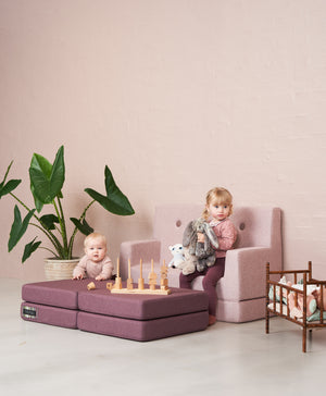 by KlipKlap - KK Kids Sofa Soft Pink