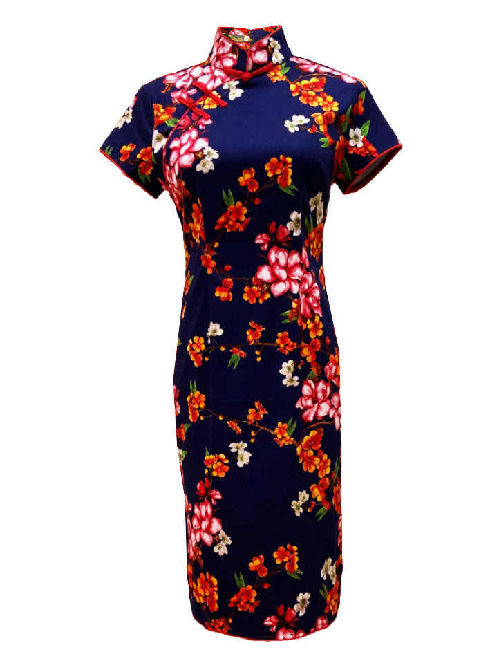Cotton Short Sleeve Qipao (Retail Price: $168)