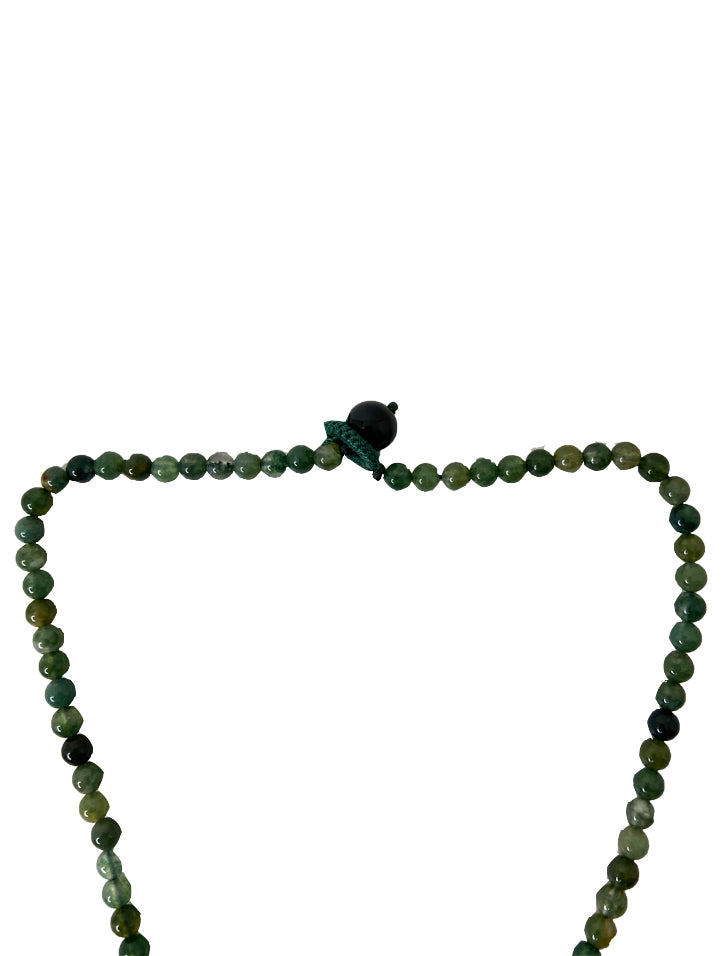 Jadeite Ring with Agate Bead Choker