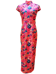 100% Silk Embroidery Long Qipao (Retail Price: $788)