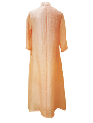 Silk Linen Flare Dress (Retail Price: $428)