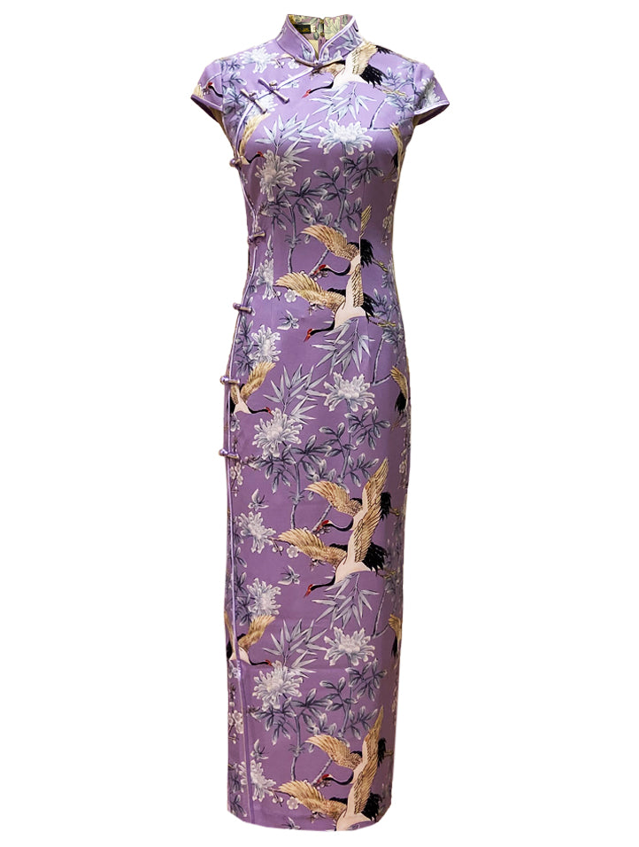 Cap-Sleeve Long Qipao (Retail Price: $488)