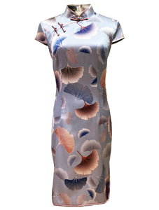 100% Silk Cap-Sleeve Qipao (Retail Price: $328)