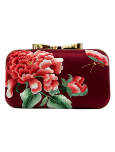 Silk Embroidery Clutch Bag