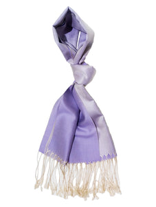 100% Silk Shawl, Tone-On-Tone Lilac Reversible Silk Shawl (Retail Price: $98)