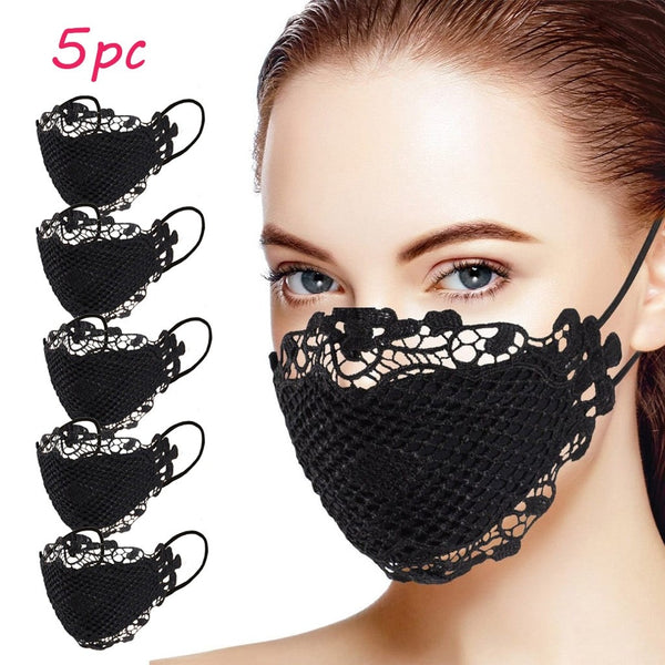 Delicate Lace Applique Washable and Reusable Face Mask. - yambi.co.uk