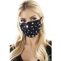 Washable Star Printed Adjustable Cotton Face Mask - yambi.co.uk