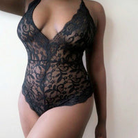 Lingerie Lace Dress Babydoll Bodysuits Solid Color Summer Hot Female Women Underwear Nightwear Sleepwear Plus Size S-3XL - yambi.co.uk