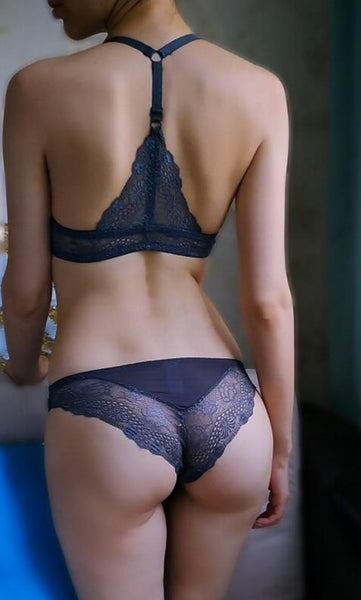 Beautiful lace lingerie bra Seamless front closure. - yambi.co.uk