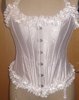 Gothic Steel Boned Over bust Corset Top Ruffled - yambi.co.uk
