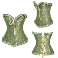 Steampunk Boned Corset, Gothic Burlesque, Lace Up Back  S - 6XL  With G-String - yambi.co.uk