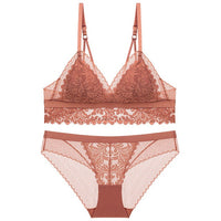 French Style Set, Lace, Sexy Push-up Bra And Pantie Set - yambi.co.uk