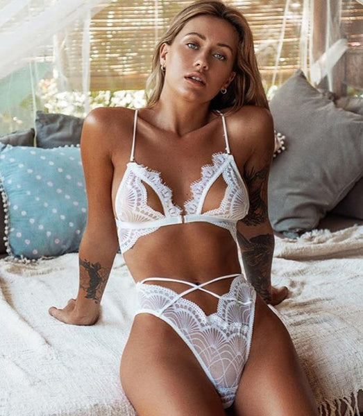 Sexy Lace 2 Piece, Underwear Set. - yambi.co.uk