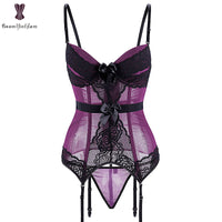 Sexy Lingerie Women Underwear Fish Boned Waist Trainer Transparent Corset - yambi.co.uk