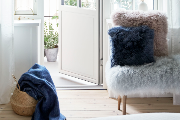 Decorate your home with natural sheepskin