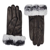 skin gloves with fur