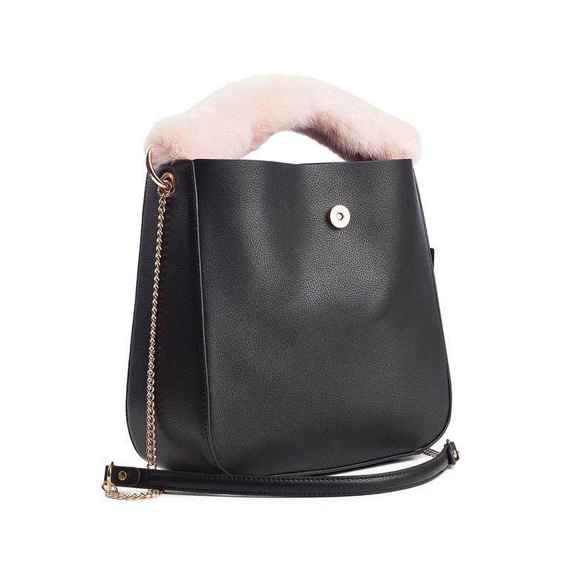 Mink Bag Strap with Zipper, Long, 9x30 cm.