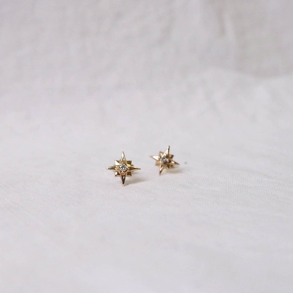 Starburst stud earrings
