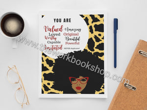You Are Notebook/Journal Ankara Series (Variety of Covers)