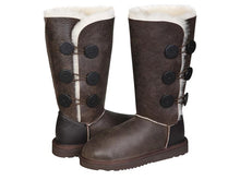 Load image into Gallery viewer, NAPPA BUTTON TALL boots. Made in Australia. FREE Worldwide Shipping.