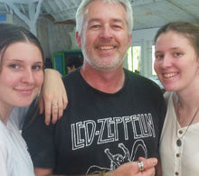 Dad and daughters in half day jewellery making class