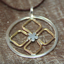 Half day workshop bali silver flower pendant geometric style