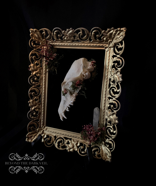 Enchanted Forest Fox Skull Cameo
