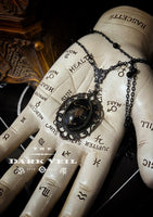 Gothic Scorpion Witch Necklace - Ornate settting