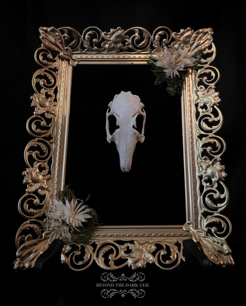 Enchanted Forest Rabbit Skull Frame