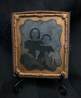 Victorian Siblings Ambrotype