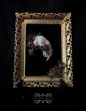 Enchanted Forest Cat Skull Cameo
