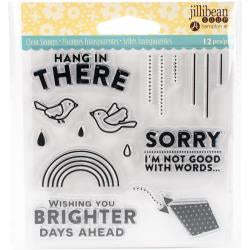 "Jillibean Soup Clear Stamps 4""X4"" Hang N There"