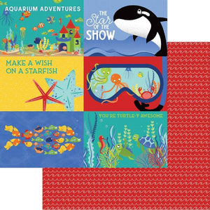"Fish Tales Double-Sided Cardstock 12""X12"" Showtime"